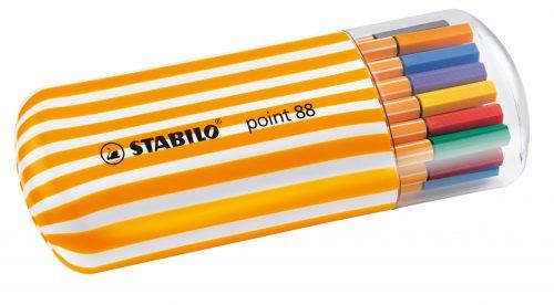 סט 20 עטי סטבילו בצבעים שונים