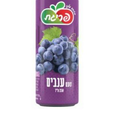 משקה קל בטעם ענבים בפחית פריגת 330 מ''ל ליח' (ארגז 24 פחיות)