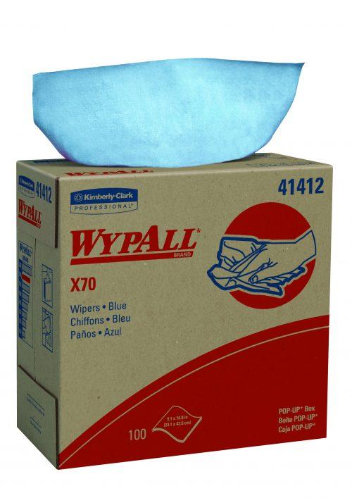 מטליות Wypall*X70 צץ רץ בקופסא, צבע כחול