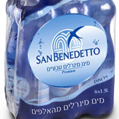מים מינרליים סן בנדטו 1.5 ליטר (שישייה)