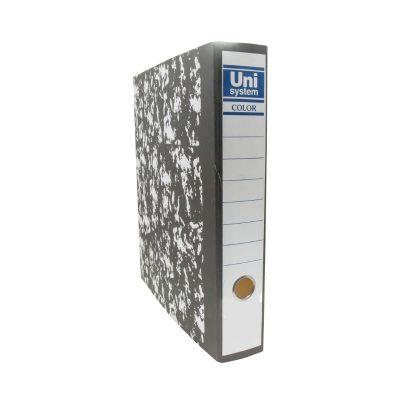 קלסר UNI מנומר גב 8 פיחה עיברית