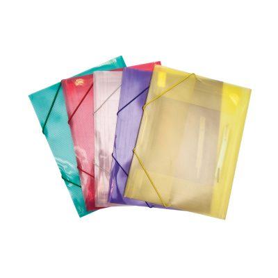 תיק גומי פלסטי A4