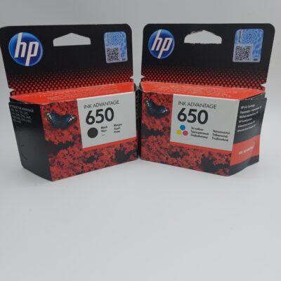 ראשי דיו מקורי HP 652 ( שחור וצבעוני )