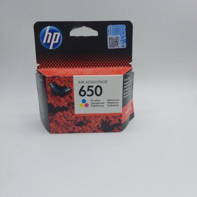 ראש דיו צבעוני מקורי HP 650 CZ102AE