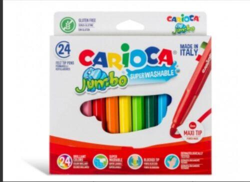 מארז 24 טושים צבעונים CARIOCA