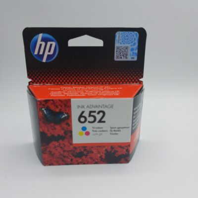 ראש דיו צבעוני מקורי HP 652 F6V24AE