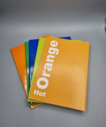 מחברות צבעוניות 40 דף ( שורה , משבצות, חלקה. אנגלית , 10 שורות, 14 שורות )